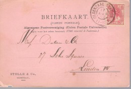 CARD,POSTED 1902,FROM STOLLE & Co.,OLDENZAAL. TO DULAU & Co.SOHO SQ. LONDON SEE SCANS. - Periode 1891-1948 (Wilhelmina)