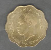 TANZANIA 10 SENTI KUMI 1981 - Tanzanie