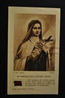 Image Pieuse Etoffe Relique Sainte Thérèse De L'Enfant Jésus - Santini