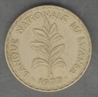 RWANDA 50 FRANCS 1977 - Rwanda