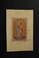Image Pieuse XIXème Aquarellée Au Pochoir Saint Pierre - Devotion Images