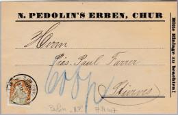 "Schweiz 1916-06-15 Chur Perfin-Beleg ""NP"" #N007 N.Pedolin's Erben - Suisse"