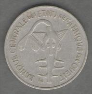 ETATS DE L'AFRIQUE DEL'OVEST 100 FRANCS 1969 - Monete