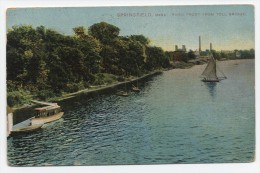 MA ~ River from Toll Bridge SPRINGFIELD Massachusetts 1909 Hampden County