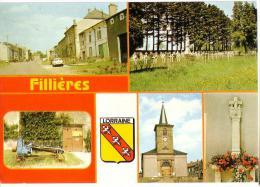 FILLIERES; Carte Mulitivues - France