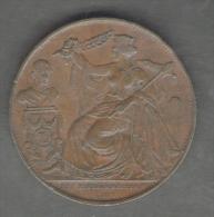 Royaume Des Belges -Léopold I - Medaille - 25è Anniversaire Inauguration Du Roi (1856) - Cuivre - Monarchia / Nobiltà
