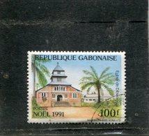 GABON. 1991. SCOTT 726. CHURCH TYPE OF 1989. CHURCH OF DIBWANGUI - Gabon (1960-...)