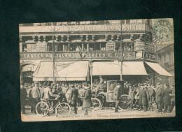 Les Cocheres à Paris  - Madame Dufaut Boulevard Sébastopol ( Devant L'éditeur De Cartes Postales ELD E. Le Deley - Public Transport (surface)