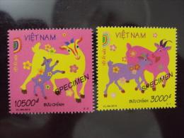 Vietnam Viet Nam MNH SPECIMEN Stamps : New Year Of Goat - Issued On 1 Dec 2014 (Ms1052) - Viêt-Nam