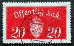 Norway  1934  Minr.14 II   ( O)  SPYDEBERG 4-4-1938  ( Lot L 836) - Service