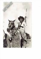 AFRIQUE - TCHAD - Cavalier foulb� du Sultan de Binder N�10 - homme  sur cheval guerrier lance