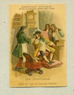 Chromo Chocolat Poulain Gaufré - Les Gantiers - Louis XVI Chez Le Gantier Martial - Texte Au Dos - Poulain