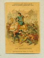 Chromo Chocolat Poulain Gaufré - Les Boulangers - Distribution Des Pains Du Sacre - Texte Au Dos - Poulain