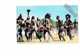 AFRIQUE - TCHAD - r�gion de DABA - danses apr�s r�colte de coton - hommes mi nus costumes - N�42