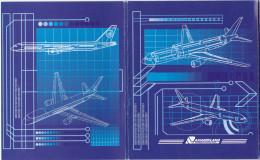 Uzbekistan Airways Folder Of 6 Airplane Cards , 70-90s - Uzbekistan