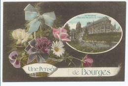 CPA FANTAISIE UNE PENSEE DE BOURGES, CHER 18 - Bourges