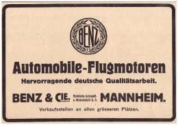 Original Werbung - 1916 -  Benz & Cie. , Mannheim , Flugmotoren , Automobile !!! - Fahrzeuge