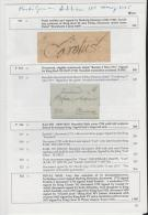 Schweden/ Klassische Briefe  Von Und Nach Schweden, 4 Doppenseiten - Philately And Postal History