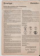 Schweden/ LITERATUR -  Stempel 1651 - 1853 Auf 3 Doppenseiten (schwedisch/englisch) 3 Doppelseiten - Philately And Postal History