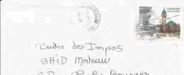 Y. Et T. 4029 Sur Enveloppe - Limoges - Oblitération Manuelle - France