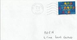 Y. Et T. 4030 Sur Enveloppe - Traité De Rome - Oblitération Vagues - France