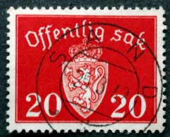 Norway  1939  Minr.37  ( O) SAND 25-3-1942( Lot L 850) - Service