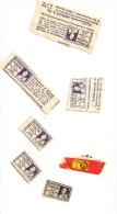 @ LOT TIMBRES.VIGNETTES POUR COLLECTEURS POINTS CHEQUE TINTIN - Publicités