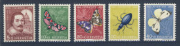 Schweiz Michel No. 632 - 636 ** postfrisch
