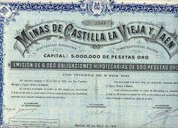 MINAS DE CASTILLA LA VIEJA Y JAEN 1910 - Mines