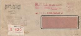 Congo 1960 Brazzaville BCNI Bank Meter Franking Satas SD 3076 Registered Cover - Congo - Brazzaville