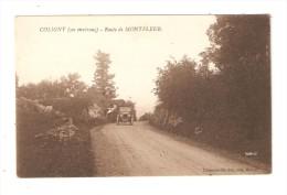 CPA : 01 - Coligny : Route De MONTFLEUR : Route - Voiture .... - Francia