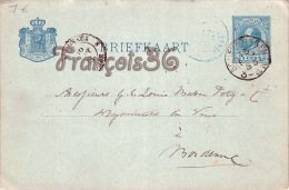 Netherlands Nederland  Holland  -Letter-kaart Van 1883 - Entiers Postaux