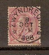 Nr. 46 Met ZELDZAME DEPOTS - RELAIS Afstempeling ZWYNDRECHT (zie NIPA Blz. 197) Dd. 8/10/1888 ! RRRRRRRRRRRRRRRRRR - Poststempel