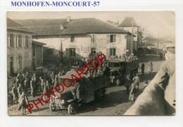 MONCOURT-Camions-Stoßtrupp-4 Bay.Ldw.Inf.Regt.-Animation-Carte Photo Allemande-Guerre14-18-1WK-Frankreich-France-57- - Vic Sur Seille