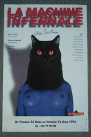 87 - LIMOGES - BELLE AFFICHE LA MACHINE INFERNALE - FEMME CHAT NOIR- JEAN COCTEAU- THEATRE LA LIMOUSINE 1994 - Manifesti