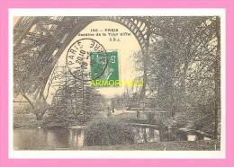 CPM    PARIS   CENTENAIRE DE LA TOUR EIFFEL JARDINS  DE LA TOUR  EIFFEL - Tour Eiffel