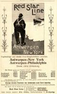Original-Werbung/ Anzeige 1901 : RED STAR LINE / ANTWERPEN - NEW YORK - Ca. 100 X 175  Mm - Publicités