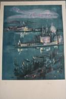 87 - SAINT JUNIEN- BELLE LITHOGRAPHIE VENISE DE JACQUES BLENY - SIGNE ET NUMEROTE 90/200 - Lithographies