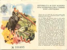San Marino -saint Marin -st Marin -gd Format -ref M267-  -carte Bon Etat - - Saint-Marin