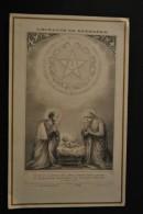 Image Pieuse Bonamy - L'Horloge De Bethléem - Sainte Famille Dans La Crèche - Noël - Santini
