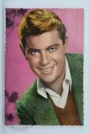 Vintage Cinema/ Movie Postcard - Actor: Troy Donahue - Acteurs