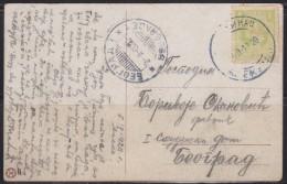 6207. Kingdom Of Serbia, 1920, Postcard From Aleksinac To Belgrade - Serbie