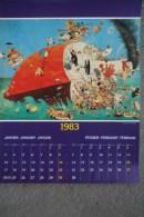 AFFICHE BONNE ANNEE - ILLUSTRATEUR DUBOUT  JANVIER - FEVRIER 1983 - Affiches