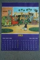 AFFICHE BONNE ANNEE - ILLUSTRATEUR DUBOUT MARS AVRIL  1983 -  LATTES     TRAIN - Manifesti
