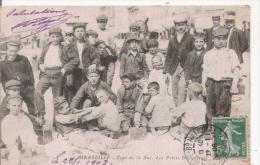 MARSEILLE 59 TYPE DE LA RUE LES PETITS DECROTTEURS 1908 (BELLE ANIMATION) - Old Professions