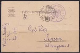 6214. WWI, K.u.K. Feldpost, 1915, Postcard - Postcards