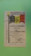 14 U/1- Fraternelle Du 13ème De Ligne Carte De Membres Manise Oignies 1948 - Cartes