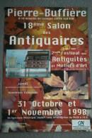 87 - PIERRE BUFFIERE - BELLE AFFICHE 18E SALON DES ANTIQUAIRES ET METIERS D' ART-1998 - Afiches