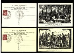 """2 Cartes Postales """"La Bourse Aux Timbres En 1860 Et 1941"""" - Paris 15 Nov 1941 - TTB (Lot LF 20) - Postmark Collection (Covers)"""