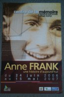87 -  ORADOUR SUR GLANE - BELLE AFFICHE EXPOSITION ANNE FRANK- 2006-2207